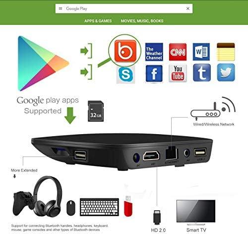 TV Box Android 7.1 - VIDEN W1 Smart TV Box Amlogic Quad Core, 1GB RAM & 8GB ROM, 4K*2K UHD H.265, HDMI, USB*2, 2.4GHz WiFi, Web TV Box, Android Set-Top Box, +
