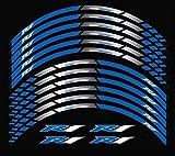 Blue 10 X Custom Rim Decals Wheel Reflective Stickers Stripes for Yamaha YZF R1