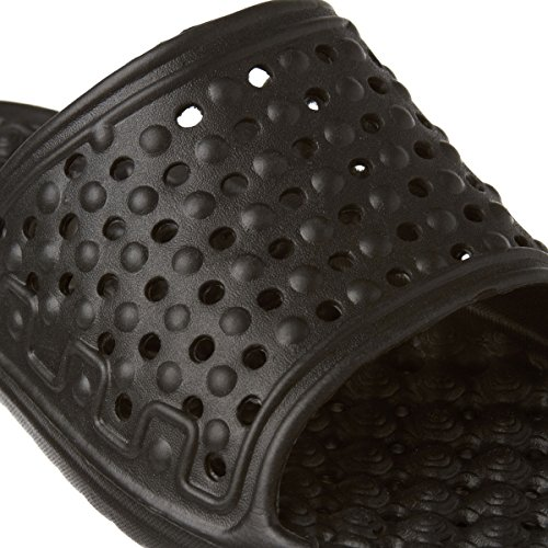 Trespass Mens Somoma Water Draining Slide Sandals Black