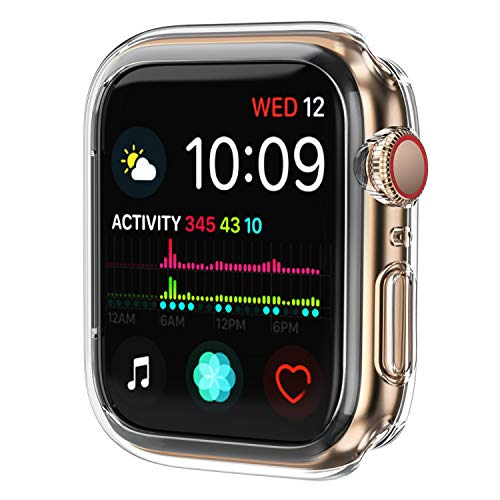 OUPODE Compatible with Apple Watch Case Series 4 40mm, Soft TPU Bumper Case Compatible with iWatch Cover, Replacement for Apple Watch Protector Series 4, Clear