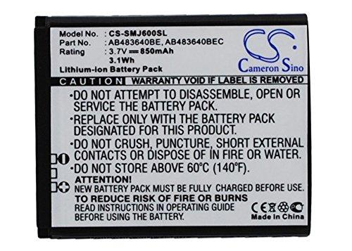 Battery for Samsung SGH-T339, 3.7V, 850mAh, Li-ion