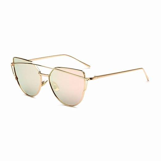 YL LY Gafas de Sol Hombres Mujeres Espejos de Colores Gafas ...