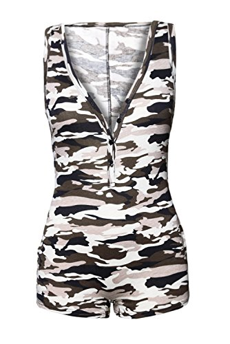 4d9d7444a306ea Jual Shawhuwa Womens Sexy V Neck Sleeveless Camouflage Romper ...