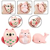 Aolige Jumbo Squishies 3 PCs Cute Whale&Owl&Hamster Kawaii Cream Scented Very Slow Rising Decompression Squeeze Kids Simulation Toys