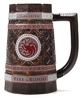 Game Of Thrones Stein Mug Targaryen Emblem Embossed Sigil Official Brown