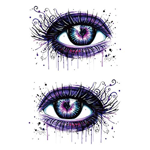 Freedi Temporary Tattoo Stickers Halloween Decals Makeup Props for Women Men Kids Boys -