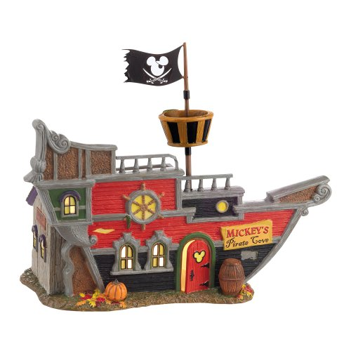 Department 56 Snow Village Halloween Mickey's Pirate Cove Lit House, 5.79 inch -