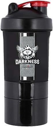 Coqueteleira 3 Doses Darkness Feel The Grip (400ml) Integralmédica