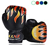 Boxing Gloves for Kids Child Punching Gloves Junior Punch Bags Sparring, 6oz for 3 to 10 YR/Black
