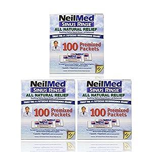 NeilMed NeilMed Sinus Rinse 100 Salt Premixed Packets for Allergies & Sinus (Pack of 3)