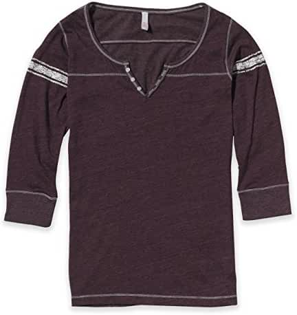 MV Sport-Ladies' Hailey Henley 3/4 Sleeve T-Shirt-W1454