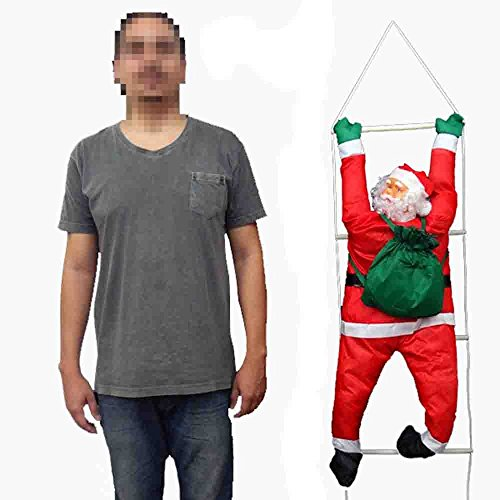 Papai Noel Escada Natal Escalador Enfeite Natalino Decoracao (BSL-36041-11)