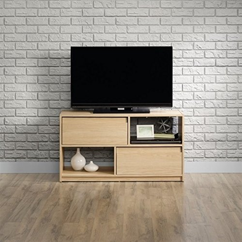 (Sauder 416897 Square 1 TV Stand, Urban Ash Finish, Holds up to a 47