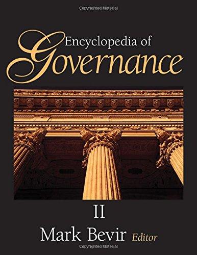Encyclopedia of Governance - 2 volume set