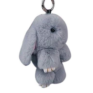 Amazon.com: Llavero con colgante de muñeca de conejo ...