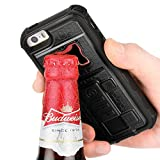 iphone 5 case with can opener - iPhone SE Case, ZVE Multifunctional Cigarette Lighter Cover for iPhone 5 / 5s Built-in Cigarette Lighter, Bottle Opener, Camera Stable Tripod Case - Black