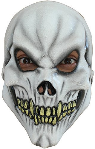 [Skull Child Scary Demon Skeleton Horror Latex Halloween Costume Mask] (Halloween Costumes For 4 People)
