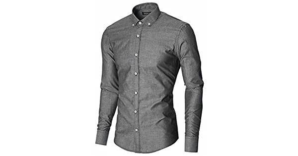 Amazon.com: Moderno para hombre vestido camisas manga larga ...