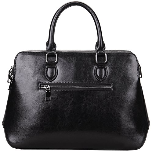 Buy small black leather satchel handbags for women