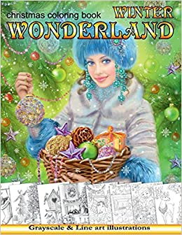 Winter Wonderland Christmas Coloring Book For Adults