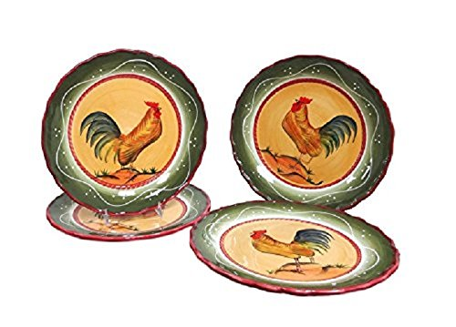 Tuscany Province Rooster Dinnerware Set