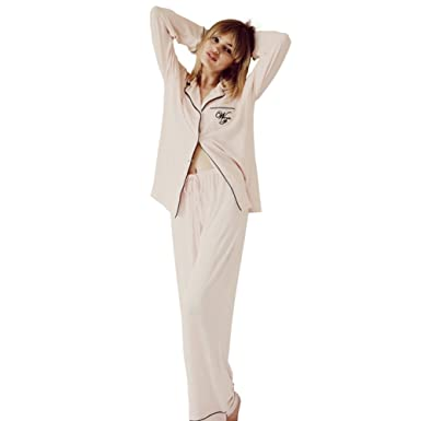 8fe9f81794eb73 Women's Pajama Sets Sleepwear Modal Cotton Pyjamas - Long Pjs (S, pink)