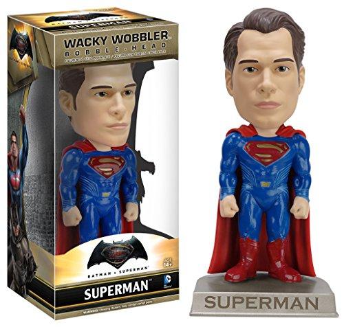 Funko Wacky Wobbler: Batman vs Superman - Superman Action Figure (Bobble Head Superman Head)