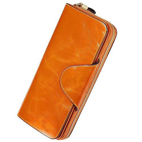 Leather Wallets for Women RFID Block Large Capacity Luxury Lady Designer...