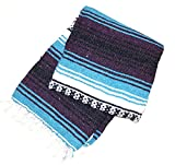 Cheap Classic Mexican Yoga Serape Blanket – 50″ x 74″ – Great for yoga rug, yoga blanket, camping, picnic, beach, throw, and outdoors! Perfect yoga accessory, fold to create a soft yoga bolster