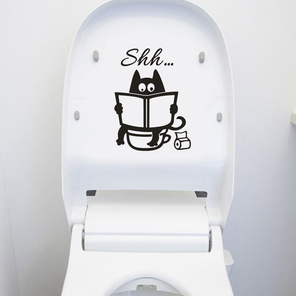 Wall Stickers, E-Scenery Grand Sale Toilet Seat Removable DIY 3D Wall Decals Mural Art Wallpaper for Kids Room Home Nursery Wedding Party Window Decor, Black