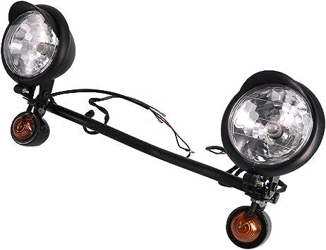 Motorcycle Headlight Universal Round Headlights Light Lamp For Most Honda Suzuki Kawasaki Harley Davidson Yamaha Cafe Racer Cruisers or any custom Sliver
