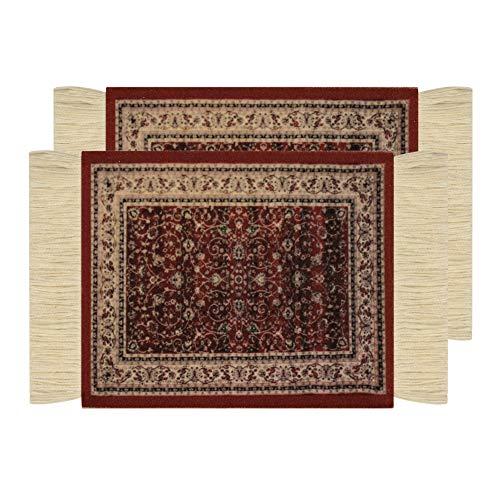 Poromoro Persian/Oriental Carpet/Rug Style Coaster/Mat - Set of Coasters (T, 2pcs)]()