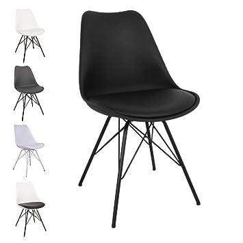 Nimara Comfort Stuhl In Skandinavischem Design Esszimmerstuhle Und Kuchenstuhle Stuhle In Schwarz Weiss Grau Und Mehreren Farben Sitzkissen