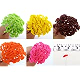 100 Assorted Lilly Cray Stamen Pollen Flower Craft Artificial Scrapbook Floral Round Wire Stem Card, Green Brown Orange Pink Yellow Color, Long Size with wire 10 cm.