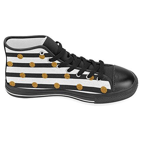 Interessanti Scarpe Da Donna Alte Scarpe Classiche Di Tela Casual Moda Scarpe Da Ginnastica Scarpe Doro