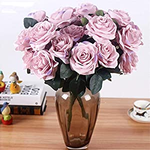 Rvbyjfg Artificial Rose Bouquet Fake Flower Daisy Wedding Decoration Party Accessories Pink 2