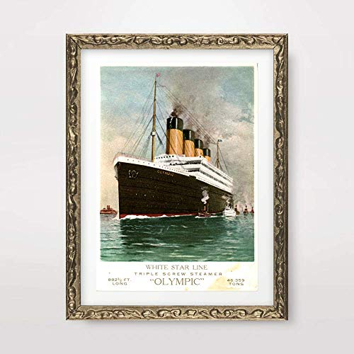 VINTAGE WHITE STAR LINE STEAMSHIP LINER SHIP BOAT SEA TRAVEL ADVERT ILLUSTRATION SEASIDE NAUTICAL ART PRINT Poster Home Decor Interior Design Wall Picture A4 A3 A2 (10 Size Options)