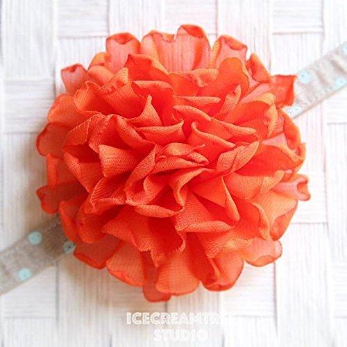 Giant Bloom Collar Slide On, Flower Collar Accessories, Corsage Accessories, Collar Add On - Orange