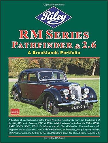 Read online Riley RM Series Pathfinder & 2.6 (A Brooklands Portfolio) PDF