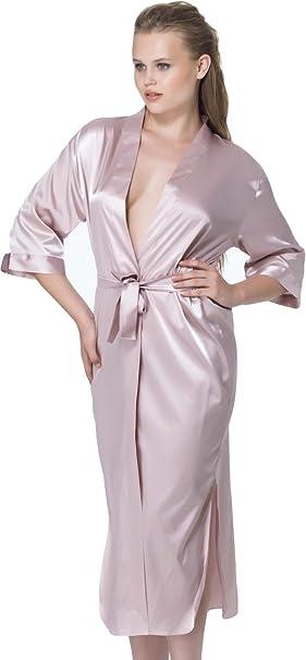 stylenmore - Bata - Básico - para mujer rosa L: Amazon.es: Ropa y accesorios