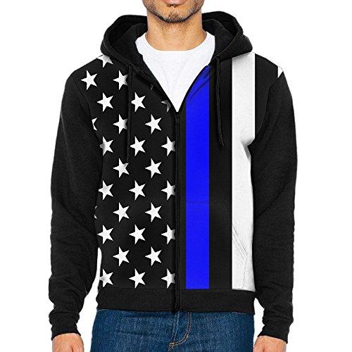 Burgundy Lines Full Zip Jacket (AWAWAWAWA Men's Blue Thin Line Us Flag Full Zip Hoodie Sweatshirt Cool Jacket Coat Outwear)