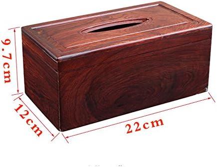ZQ Red Rosewood Tissue Box Sala Caja de Servilleta de Madera Maciza Chinese Retro Home Escritorio Caoba Bandeja de Bombeo: Amazon.es: Hogar