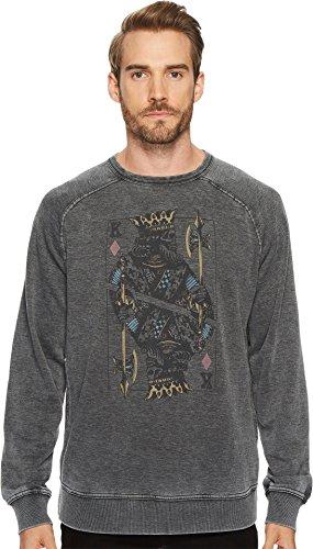 Lucky Brand Men's Venice Burnout Crew Neck Sweatshirt, Jet Black, (Burnout Pullover)