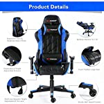 GTFORCE PRO GT Reclining Sports Racing Gaming Office Desk PC CAR Faux Leather Chair (Blue)