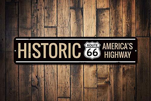 Cartel de Aluminio de la Ruta 66 de la autopista de Estados ...