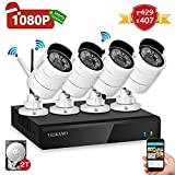 Product review for Yeskam Security Camera System 1080P HD Wireless IP Cameras and 4 Channel NVR Recorder with Motion Activated Mobile App Remote View for Outdoor Home Surveillance with 2TB Hard Drive