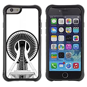 Suave TPU GEL Carcasa Funda Silicona Blando Estuche Caso de protección (para) Apple Iphone 6 / CECELL Phone case / / Building Architecture Space Needle /