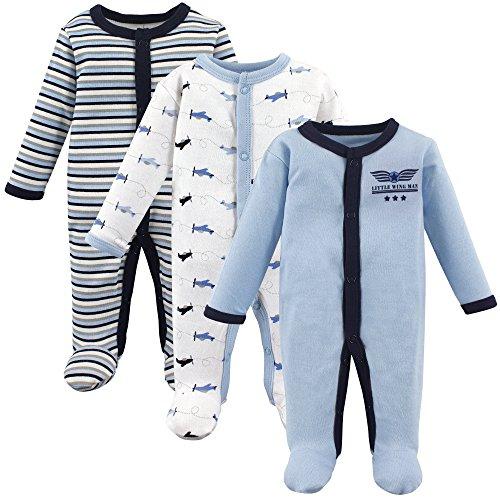 (Luvable Friends Baby Preemie Sleep and Play, 3 Pack, Airplanes,)
