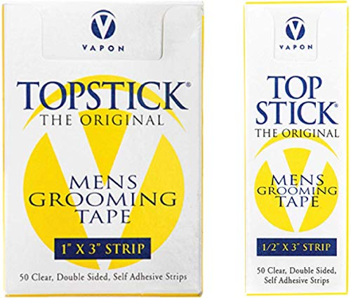 Topstick Men's Clear Double Sided Grooming Tape Bundle - (1 Box of 50 Strips) 1