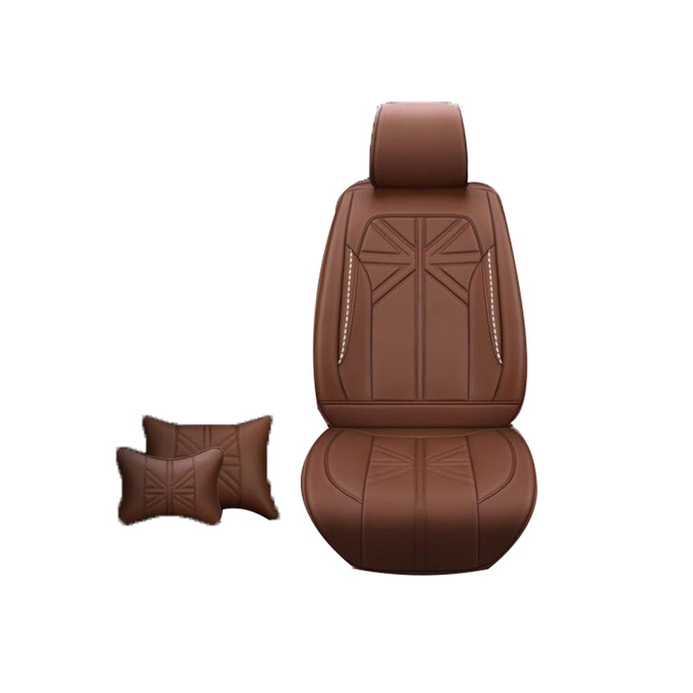 Auto Accessories New Upscale Four Seasons Leather Car Seat, Brown